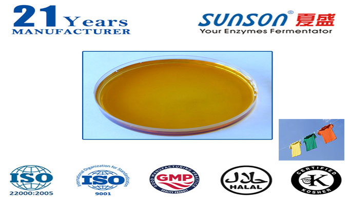 Introduction: Conzyme® DL SF is a liquid high concentrated acid cellulase preparation. It is specially developed for fab