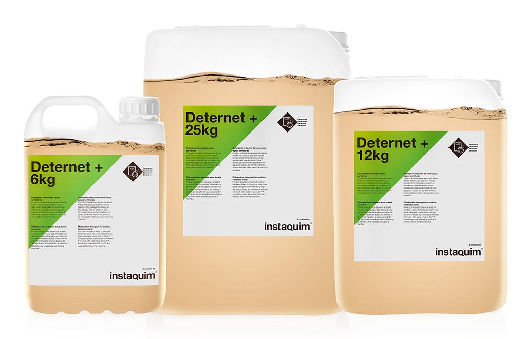 Deternet+, detergente lavavajillas aguas semiduras.