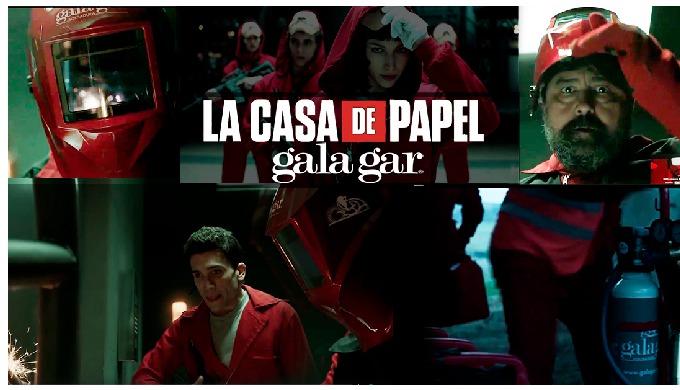 """Gala Gar colabora con la serie """"La casa de papel"""""""
