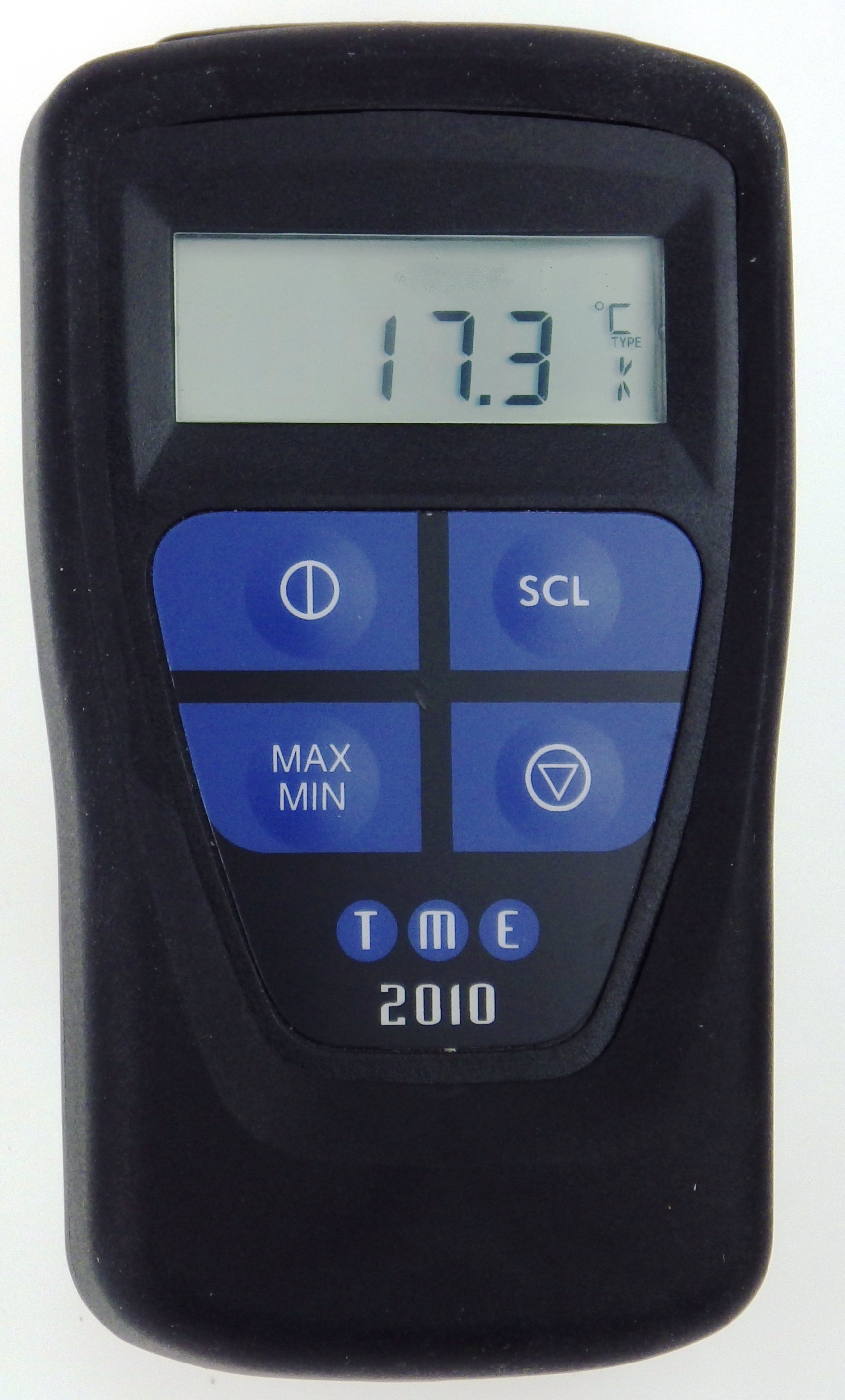This Waterproof, Self-Calibrating Thermometer has Max/Min functions, Max/Min/Hold measurement, hold function and Dual Di