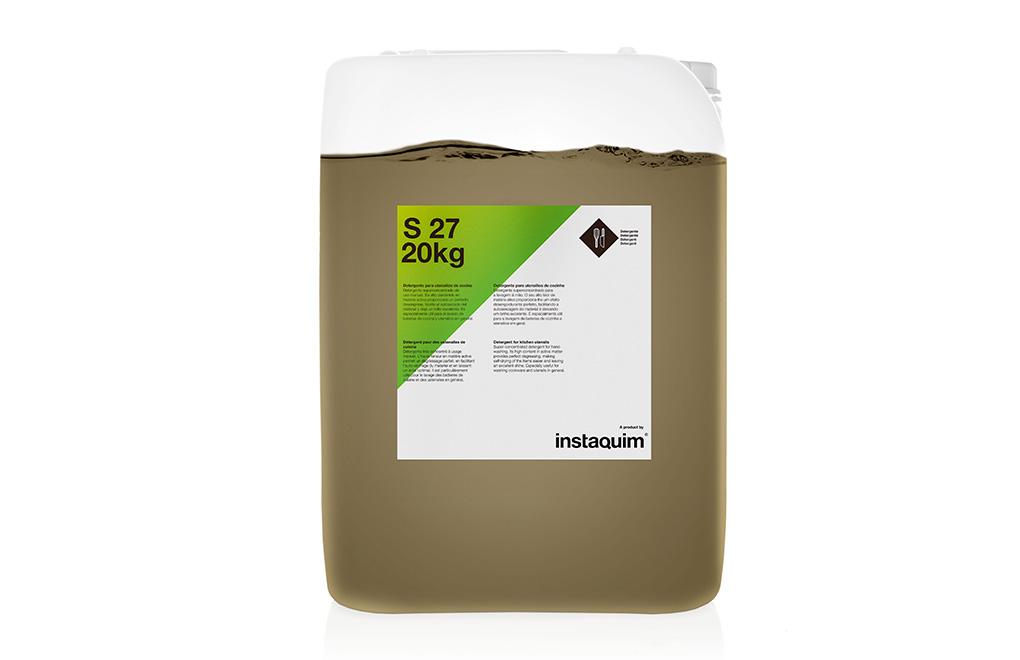 S 27, detergente para utensilios de cocina.