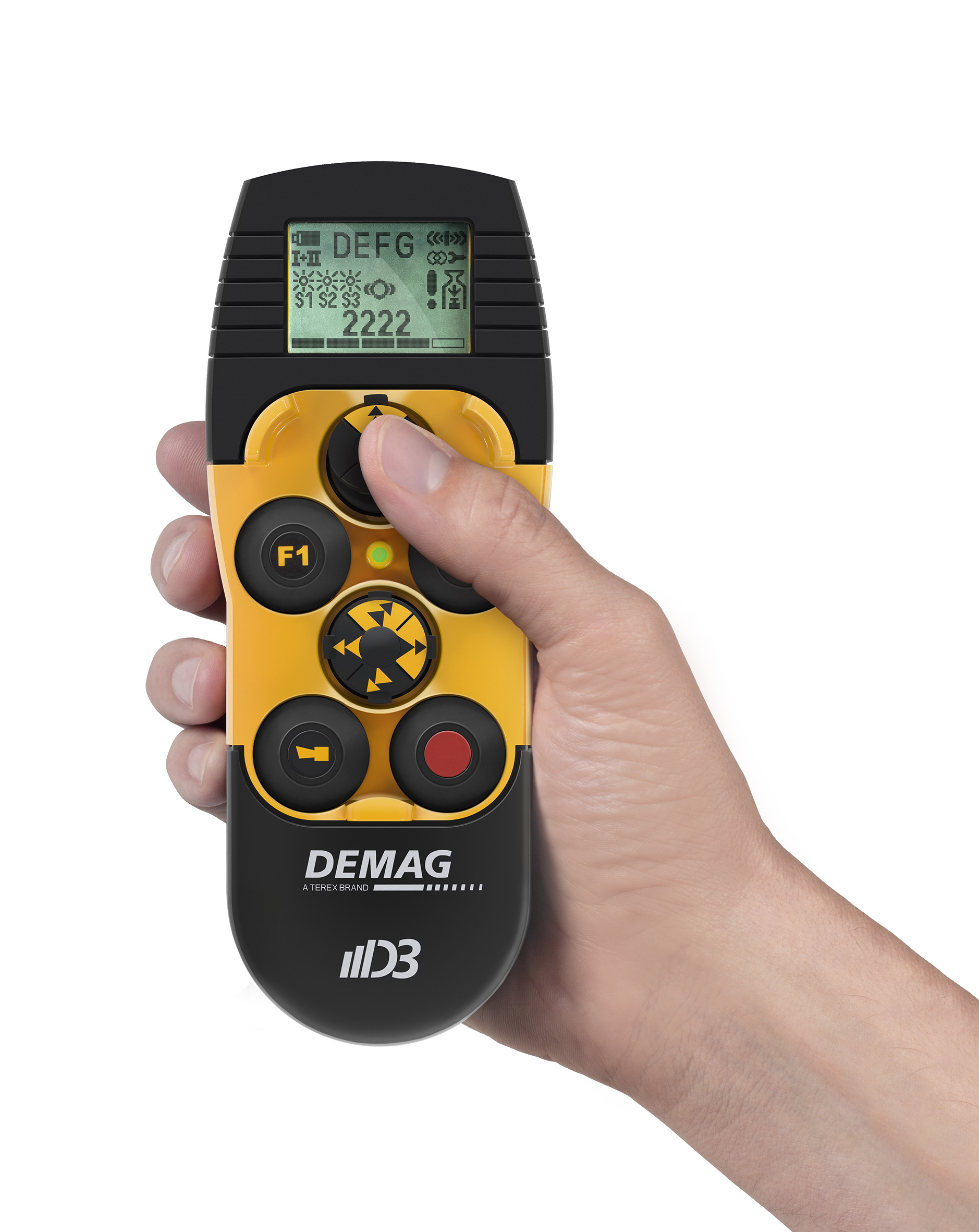 New Demag crane radio control system with mini joysticks