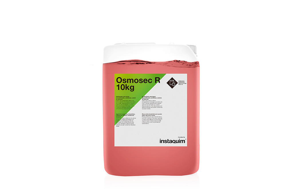 Osmosec R, abrillantador para aguas descalcificadas y osmóticas, control de espumas.