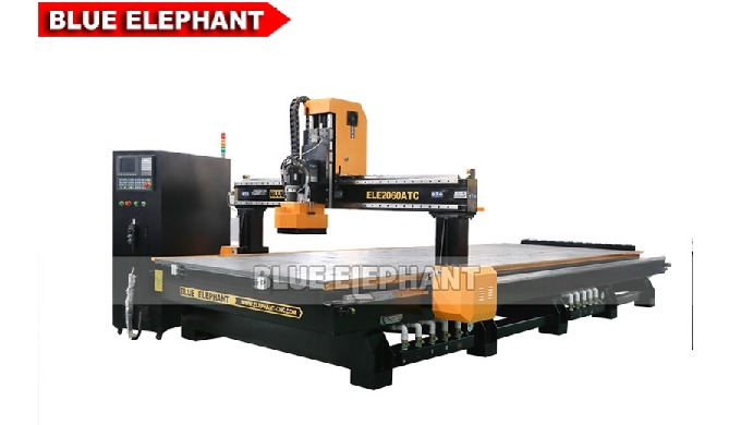 Features: 1. Improving working efficiency: Designed with linear tool change magazine to promote the working efficiency.