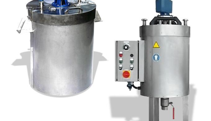 Schmelzbehälter und beheizte Rührwerkbehälter werden überall dort verwendet, wo feste Stoffe oder Schüttgüter ohne Umver