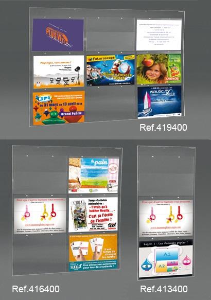 PORTE-AFFICHE MURAL 3, 6 OU 9 VISUELS A4 PAYSAGE