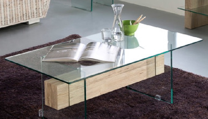 Coffee Table design Erica tempered glass