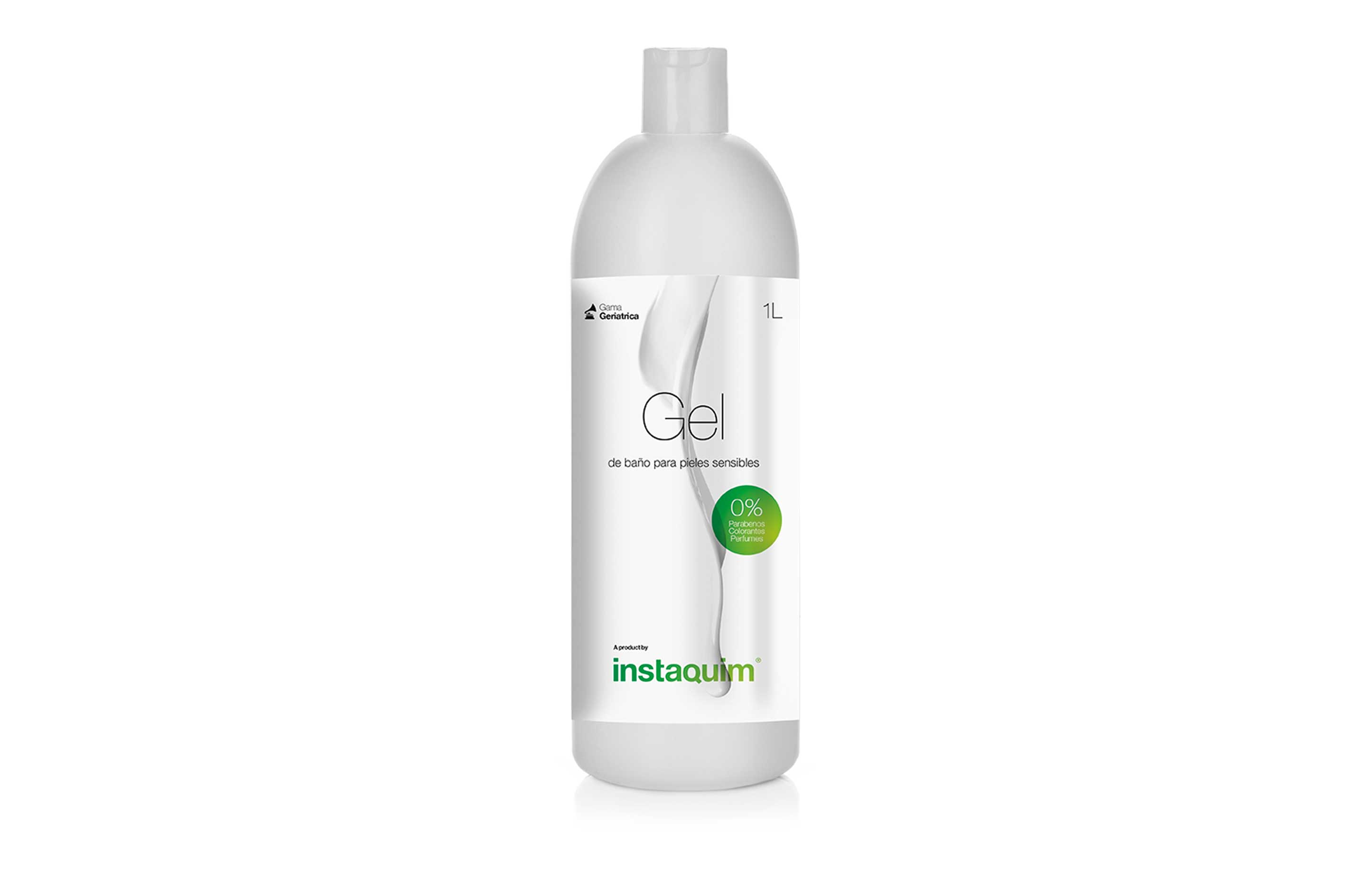 Gel de baño piel sensible 0%, especial para pieles sensibles.