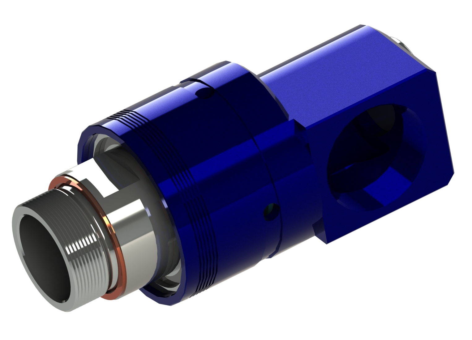 Rotating joint with aluminium-, stailnless steel or brassdesign for air, vacuum, hydraulic oil Product characteristics u