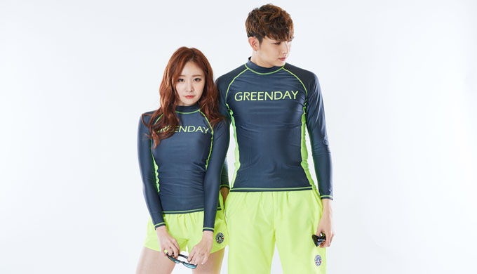 GREENDAY_ UNIQUE RASHGUARD (FLUORESCENT)