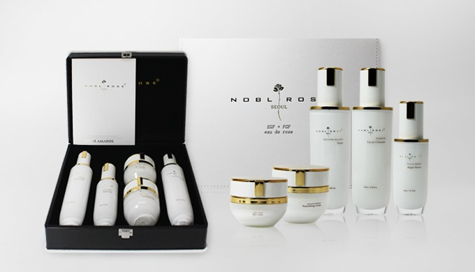 NoblRose is a new concept anti-aging skin care product that promotes the regeneration of collagen and elastin through E.