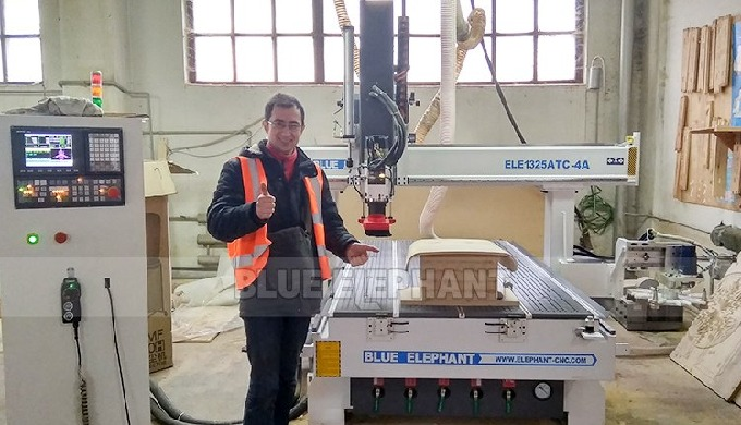 After-Sales Service in Ukraine, 4*8 ft ATC CNC Machine