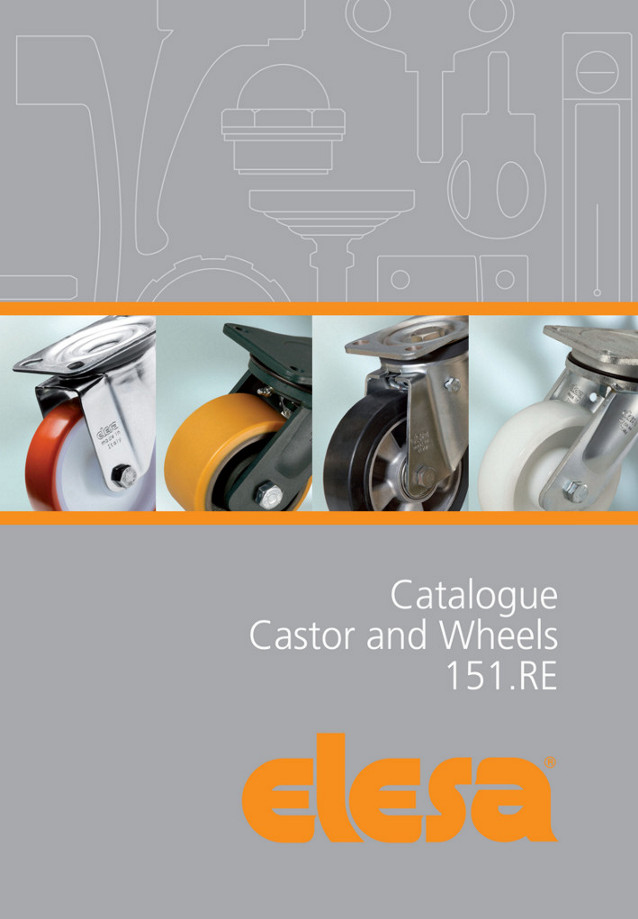Elesa's 60 plus page catalogue of industrial castors and wheels covers a greatly extended range – by almost 50% - especi
