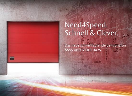 Zukunftsweisende Höchstgeschwindigkeit für Ihr Unternehmen – das neue schnelllaufende ASSA ABLOY OH1042 Sektionaltor
