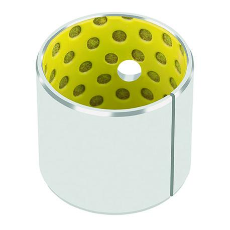 DX® marginally lubricated bushings are suited for grease or oil lubricated applications. Standard parts contain grease i