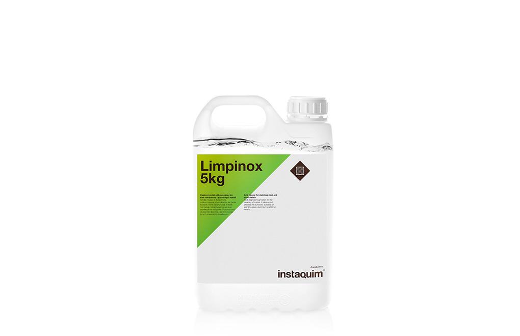 Limpinox, limpiador ácido para acero inoxidable y otros metales.