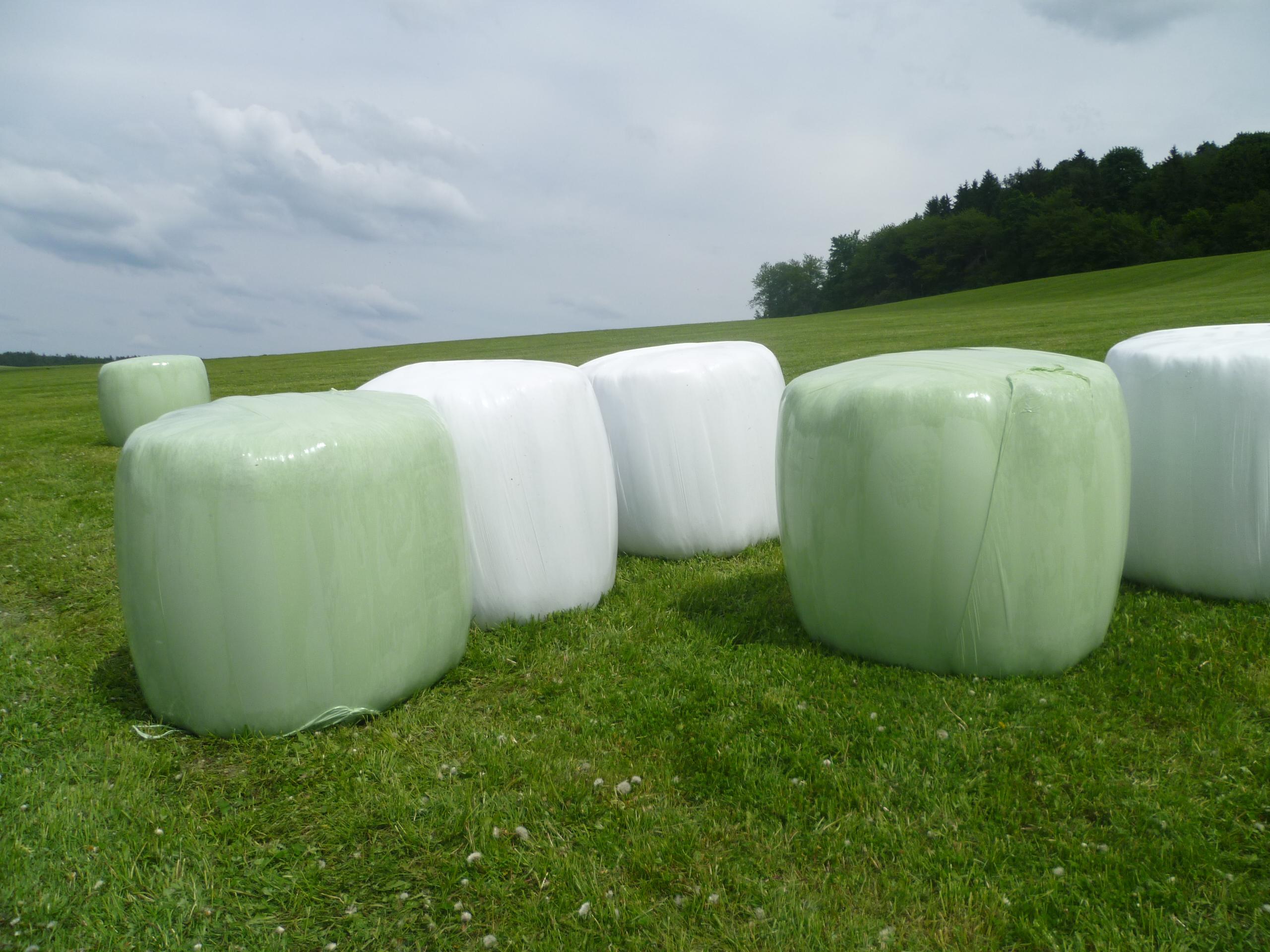 Zemědělská strečová fólie (též Agrostretch fólie) je určena ke konzervaci trávy. Mírně zavadlá tráva je slisována do bal