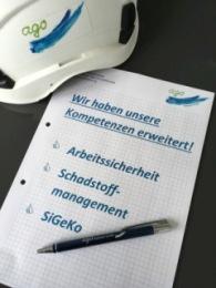 SiGeKo – Arbeitssicherheit - Schadstoffmanagement Neue Abteilung bei der AGO Hydroair GmbH eröffnet Als Unternehmer ode