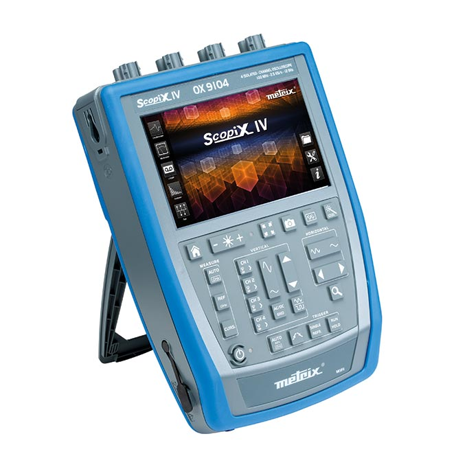 The new, comprehensive, stand-alone, portable, IP54, METRIX® SCOPIX IV oscilloscopes are equipped with channels which ar
