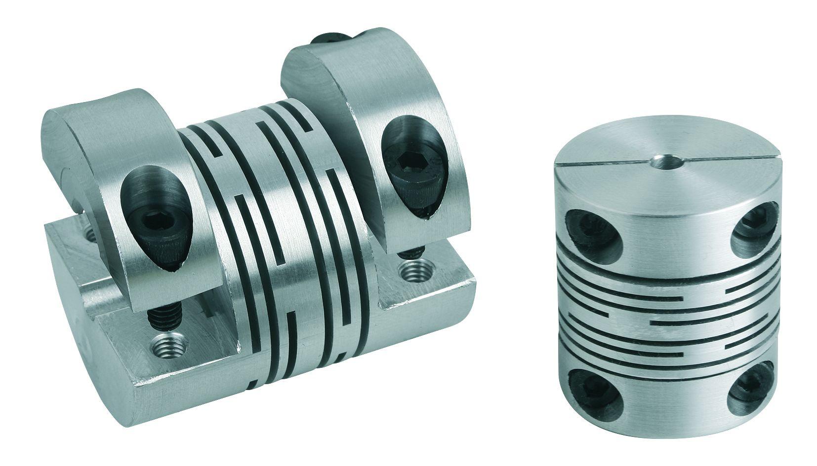 Werkstoff: Aluminium oder Edelstahl 1.4305. Ausführung: blank. Hinweis: Spielfreie, drehsteife, biegeelastische und wart