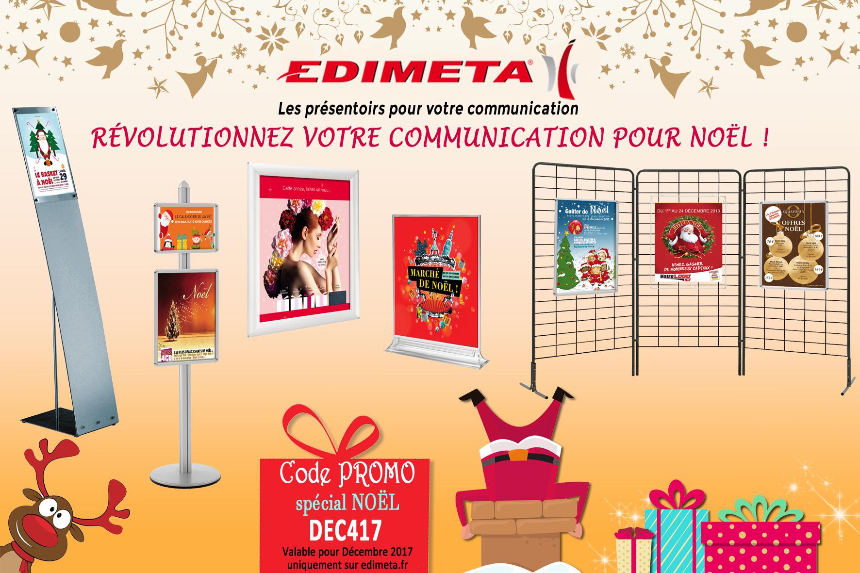 EDIMETA - Code promo pour Décembre 2017