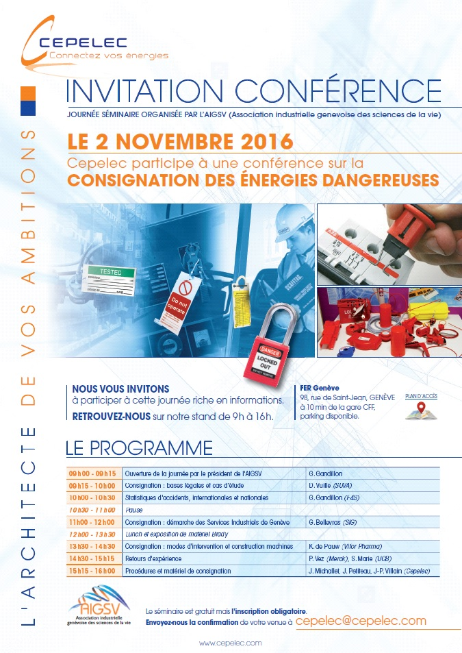 Conférence sur la Consignation des Energies Dangereuses