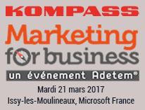 Kompass est présent sur le salon Marketing for Business du 21 mars 2017