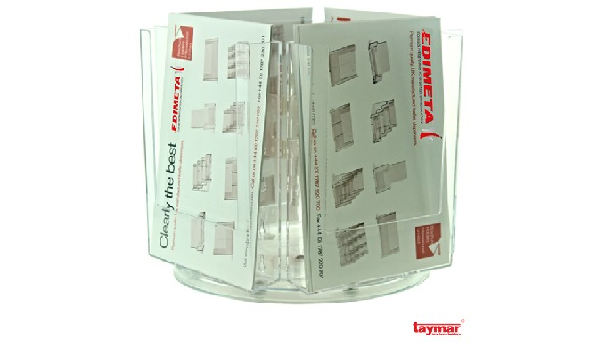 PORTE-BROCHURES ROTATIFS TAYMAR® MULTI-CASES DE TABLE