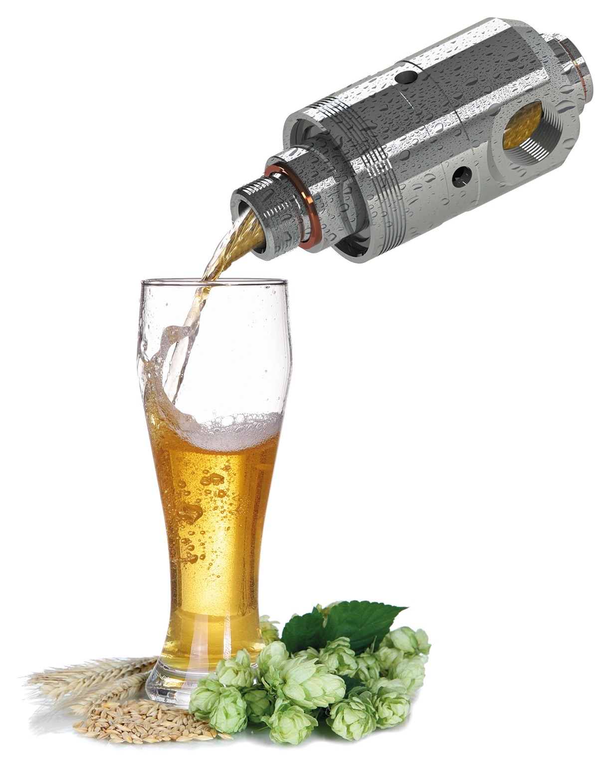 Rotary joints in brewing technology