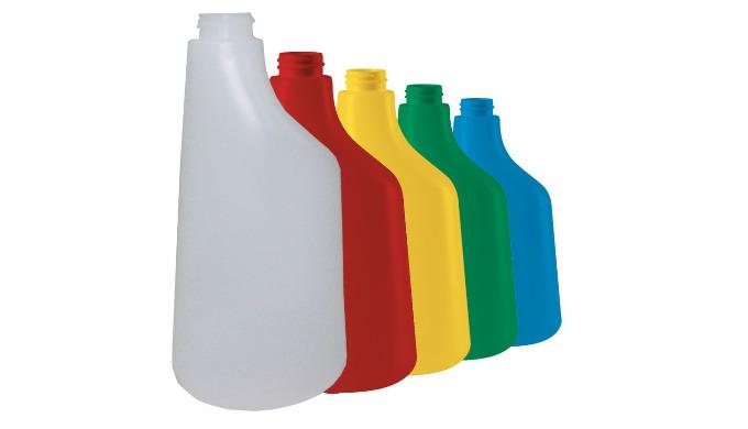 Existe en 4 couleurs + translucide : vert > sols bleu > vitres rouge > sanitaires jaune > désinfection Capacité : 600 m