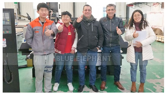 Netherlands Customer Visiting, 4*8 ATC Wood Working Machinery