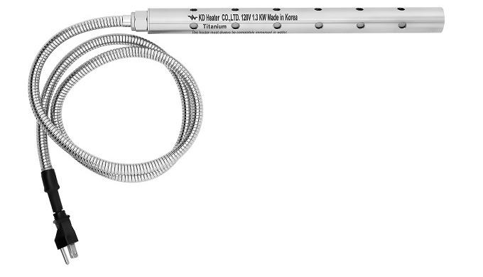 Fully Submersible Portable Electric Immersion Water Heater without temperature controller is designed primarily for hea