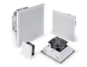 Zur Belüftung von Schaltschränken und Gehäusen Verschiedene Filtermatten zur Staubfilterung Serie LV in flacher Bauform
