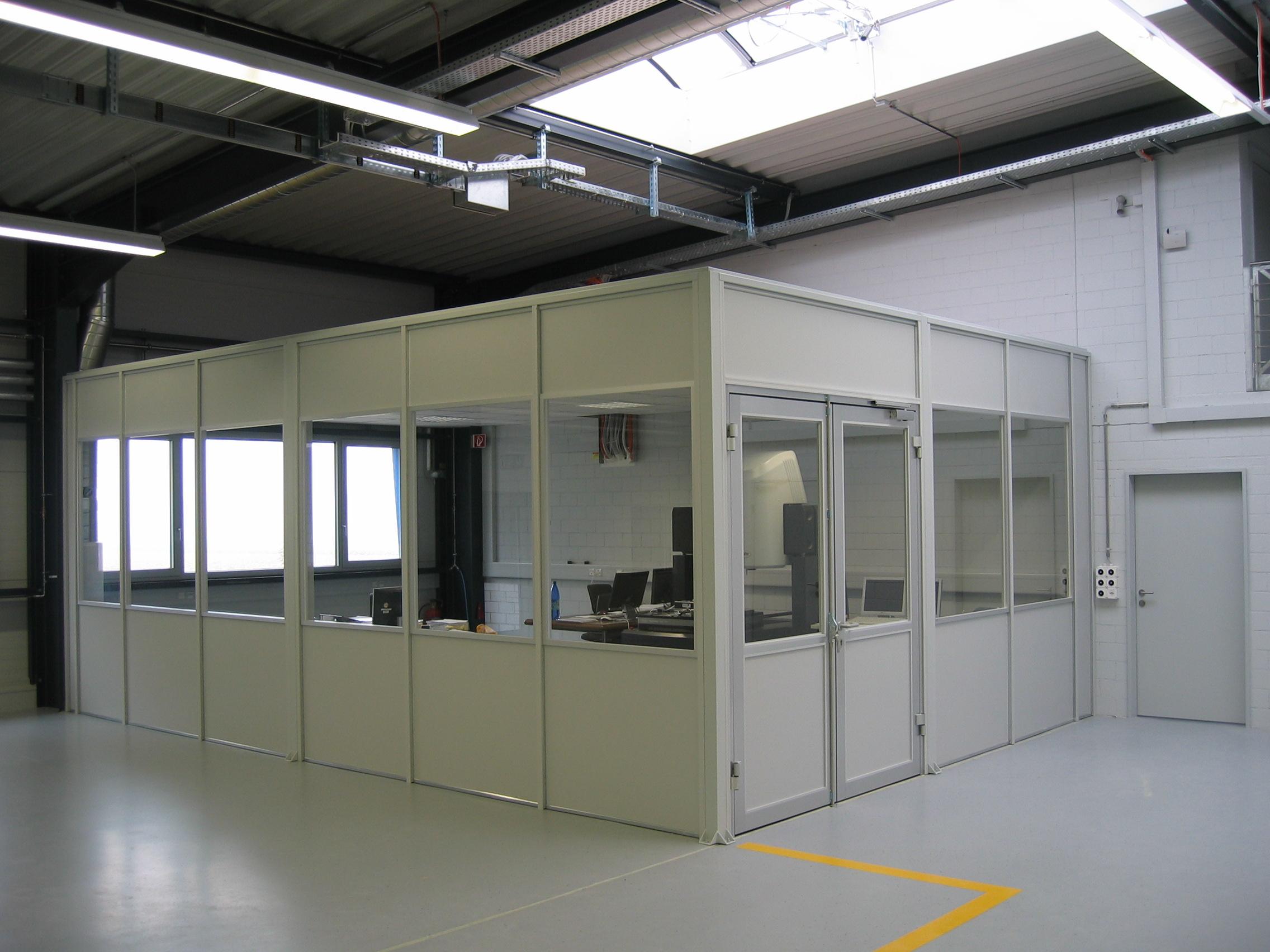 Bedarfsgerechte Raum-in-Raum-Lösungen Flexible, bedarfsgerechte Räume Raumnutzung auf mehreren Ebene in Kombination mit