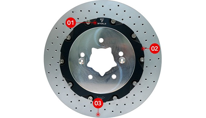 Thisbrake system parts and function iswas made with the company's meticulous technology.  An ultralight disc rotor wi