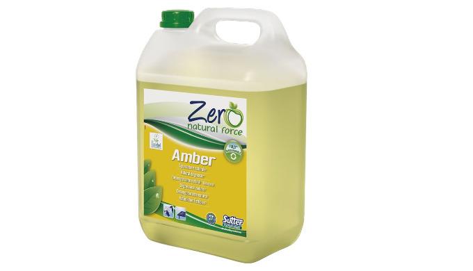 AMBER est un dégraissant naturel, certifié Ecolabel, sans phosphates, nickel et allergènes &#x3b; ce produit est testé dermat