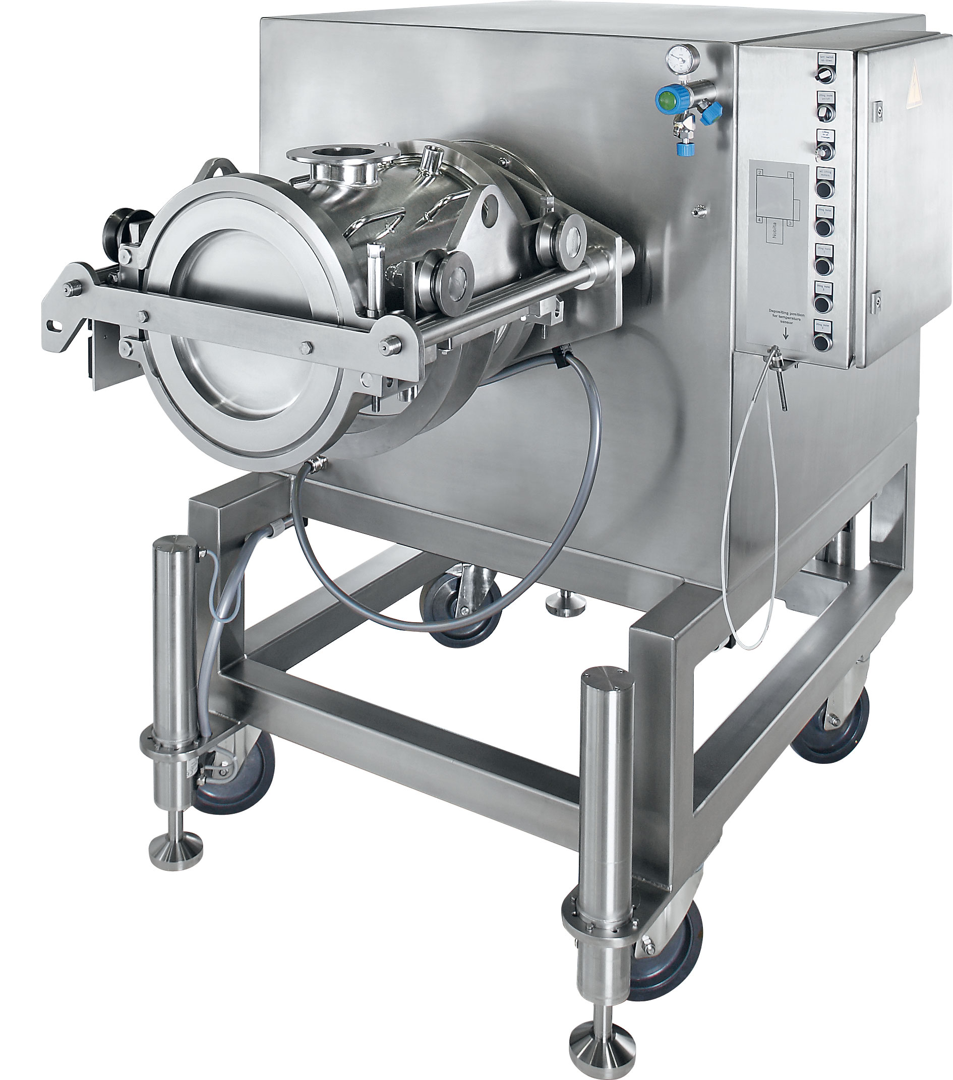 The Nobilta™ is a multi-functional processing unit for high speed, precision, powder mixing, particle surface modificati