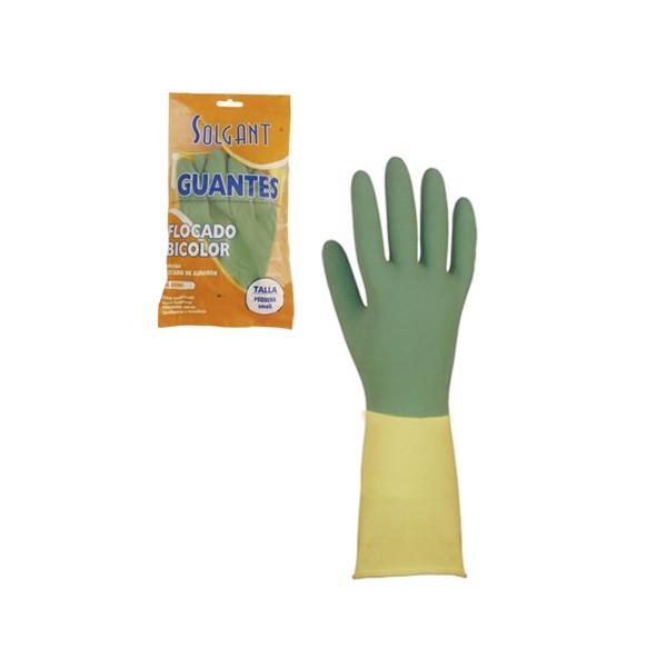 Mănuși menajere bicolore LATEX Utilizări principale: Adecvat în special pentru uz casnic, curățenie, grădinărit și brico
