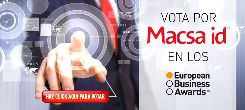 VOTA POR MACSA EN LOS EUROPEAN BUSINESS AWARDS