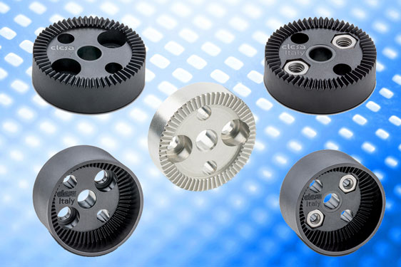 Elesa's range of circular toothed clamping plates enable quick, accurate and robust positioning of equipment which may b