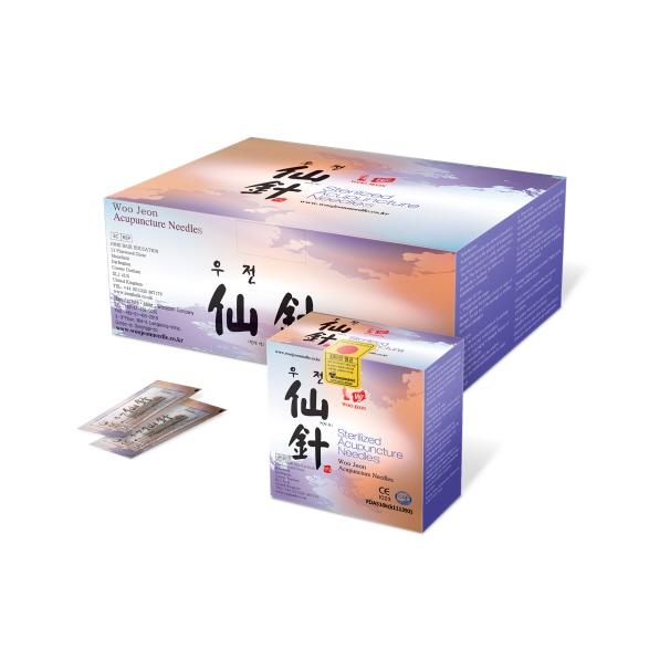 Aiguilles d'acupuncture jetables stériles en acier inoxydable avec poignée en métal de 20 mm. 10 aiguilles avec 1 tube d