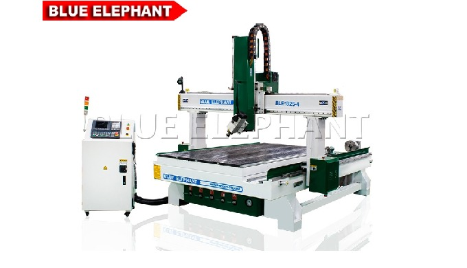 ELECNC-1325 4 Axis CNC Router Machine