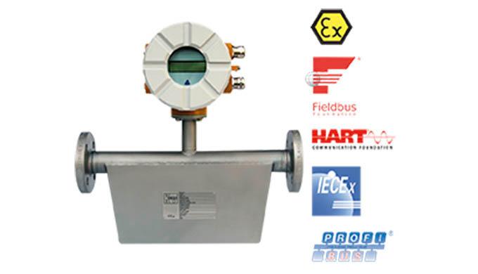 """Messbereich: 0 - 60 kg/h ... 0 - 2200 t/h Wasser Anschluss: Flansch DN10 - DN400, ANSI &frac12&#x3b; ... 16"""" JIS, NPT, Sonder"""
