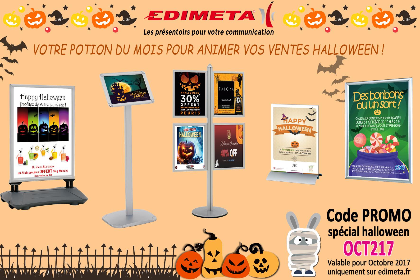 EDIMETA - Code promo pour Octobre 2017