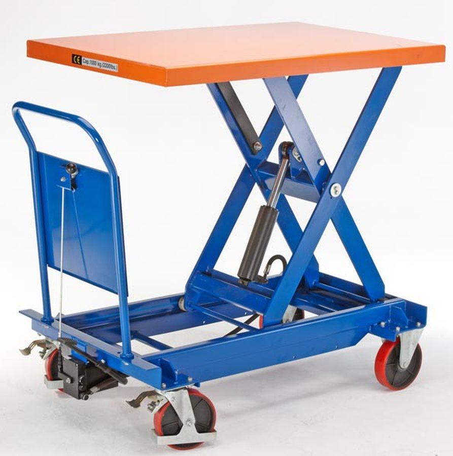 Tragfähigkeit 500 kgAnheben durch Pumppedal, stufenlose Handgriffabsenkung. Langlebige und ausgereifte Geräte. Servicefr