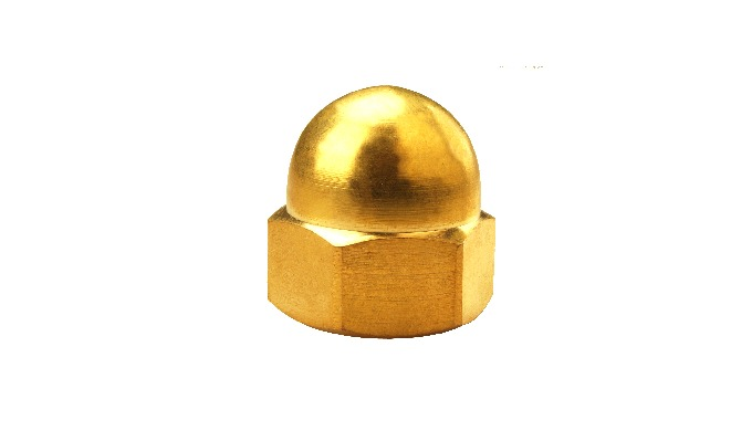 Brass cap Nutcovers the end of the bolt andIt isused for decorative work. It is also known as acorn nuts, hex cap nut