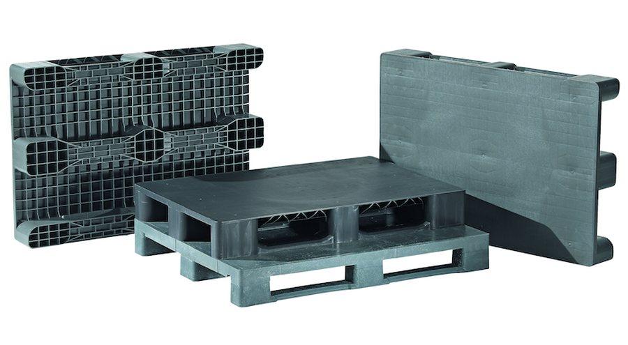LxBxH 1200 x 800 x 150 mmAus hochwertigem Recycling-Polyethylen. Mit geschlossenem Oberdeck und geripptem Unterdeck Hoch