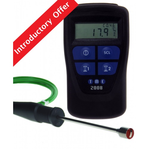 CLEGK1 Compact Legionella Temp Kit, featuring the new MM2008 Legionella Thermometer with Integral Timer and the BSKS01-S