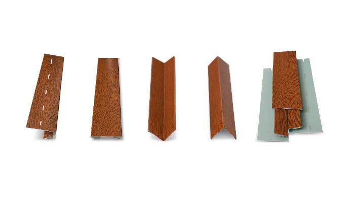 """Listwy montażowe do podsufitki systemowej - Hornval P1. Listwa """"J"""", Maskownica, Narożnik wewnętrzny i zewnętrzny."""