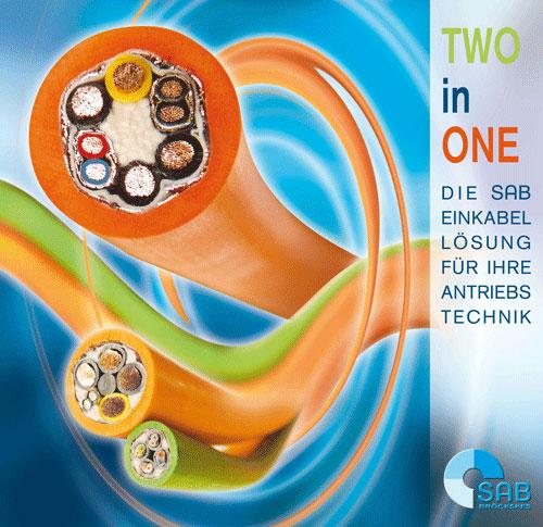 TWO in ONE - Antriebshersteller können den Verkabelungsaufwand deutlich reduzieren und gleichzeitig Bauraum, Gewicht und Kosten sparen